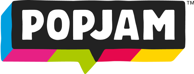 Multi-colour PopJam logo